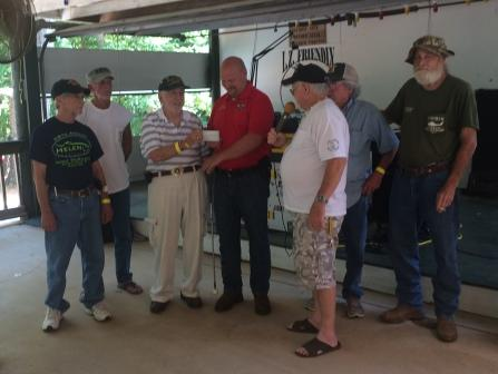 Sheriff receives a check for Special Food Fund